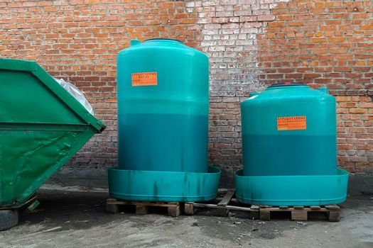 Waste engine oil container disposal