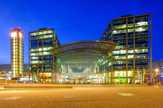 BERLIN - GERMANY - MARCH 21, 2017; Berlin Hauptbahnhof the main