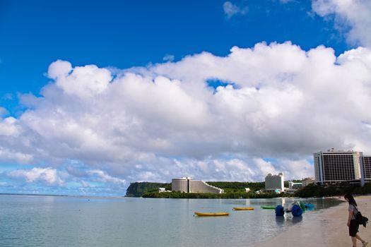 Coastlines of Tumon, Guam Pristine clear waters of the Tumon Bay coastal areas, Guam
