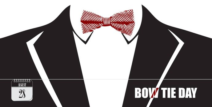 Post card for event august day Bow Tie Day