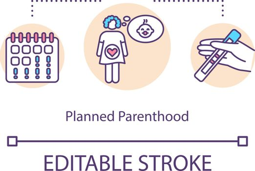 Planned parenthood concept icon