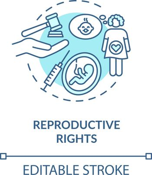 Reproductive rights concept icon