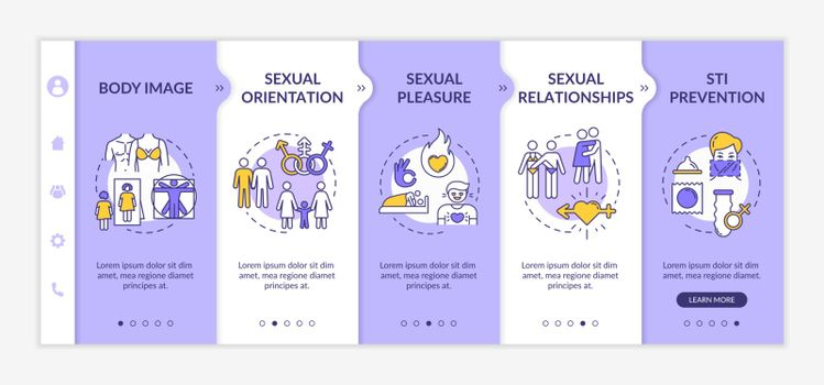 Sexuality onboarding vector template