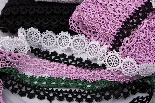 gentle luxury quality guipure, lace fabric. use for sew clothes linen decoration.