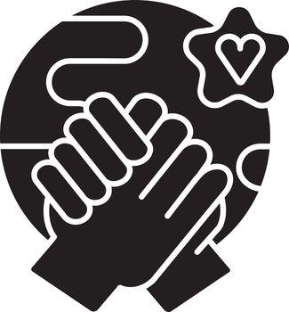 Tolerance black glyph icon
