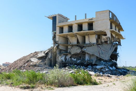 Demolition of an illegal building by court order