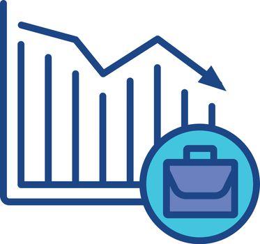 Unemployment rate RGB color icon