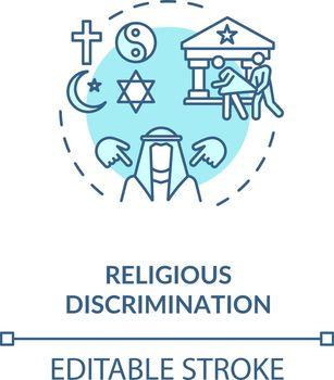 Religious discrimination concept icon