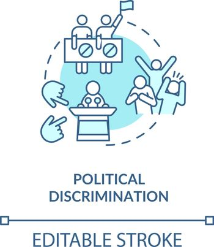 Political discrimination concept icon