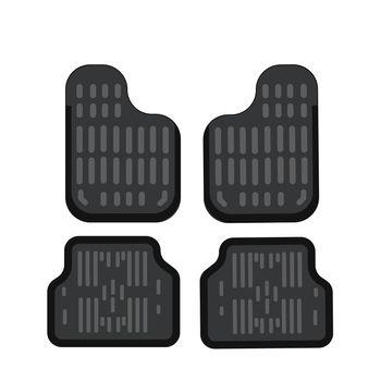 Car mats. Car floor carpet icon. Flat illustration. Rubber car mats under feet