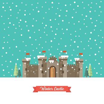 Castle in winter season