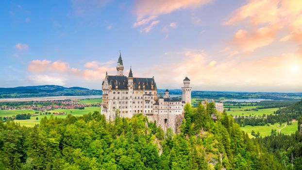 World-famous Neuschwanstein Castle, southwest Bavaria, Germany