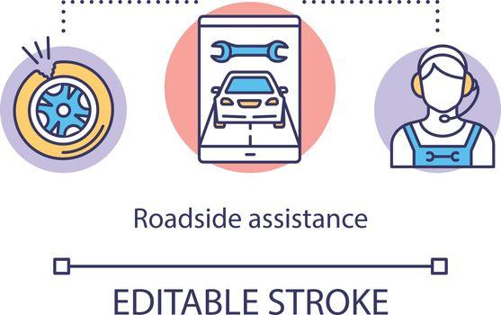 Roadside assistance concept icon