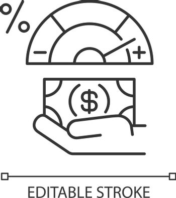 Credit score changing linear icon