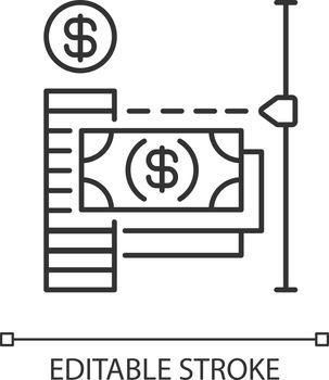 Transaction limit linear icon