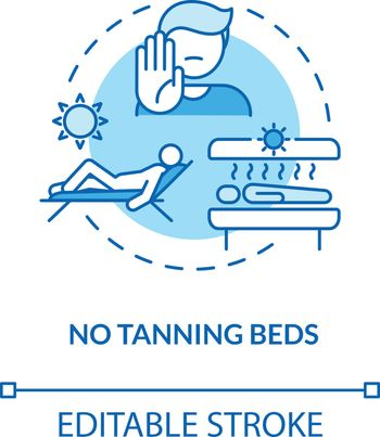 No tanning beds concept icon
