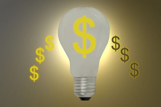 Light bulb idea finance investment and economy.