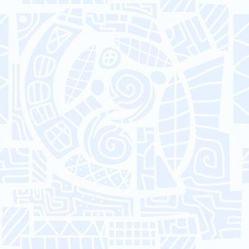 Abstract geometric seamless pattern in scandinavian style. Illustration