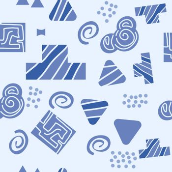 Abstract geometric seamless pattern in scandinavian style. Illustration