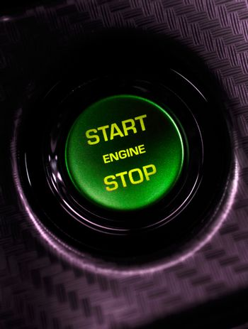 Car engine start and stop button
