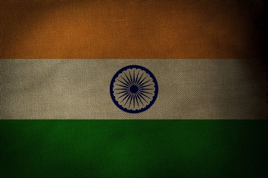The central part of the flag of the state of India
