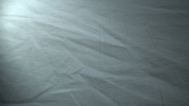 The surface wrinkles of the white bedding in the hotel