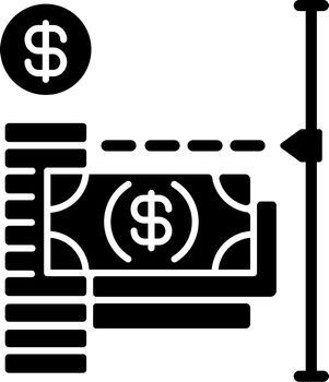 Transaction limit black glyph icon