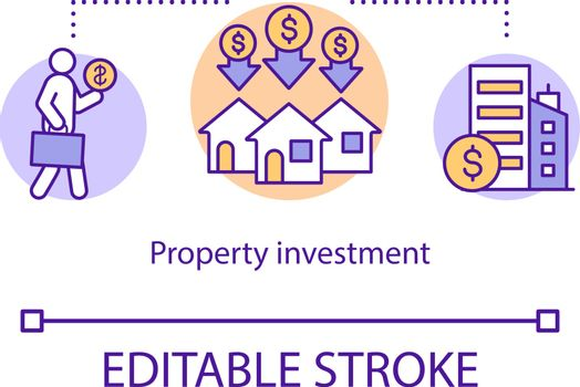 Property investment concept icon