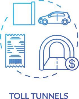 Road cost concept icon