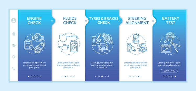 Full service automotive onboarding vector template
