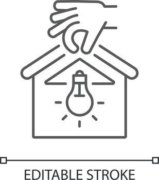 Lighting installation linear icon
