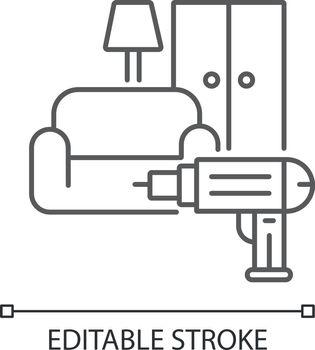 Furniture installation linear icon