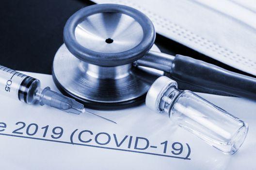 Coronavirus disease 2019 with vaccine.
