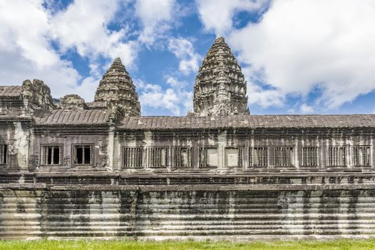 Angkor Wat temple in Cambodia. Ancient temple complex Angkor Wat