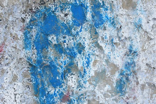 Dirty wall surface. Cracked concrete wall. Background