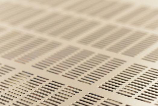 Equipment ventilation grid. Abstract metallic mesh background