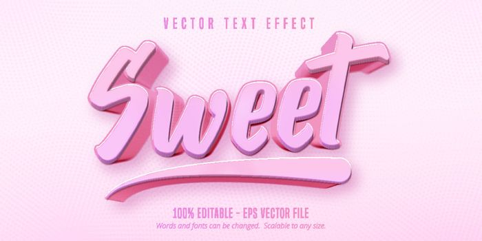 Sweet text, game style editable text effect