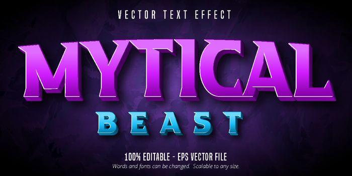 Mytical beast text, 3d editable text effect