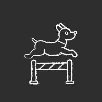 Pet training chalk white icon on black background