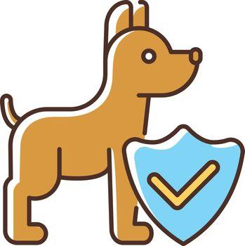 Pet insurance RGB color icon