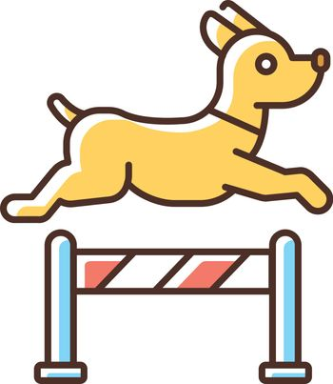 Pet training RGB color icon