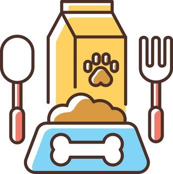 Pet restaurant RGB color icon