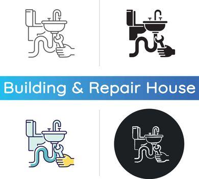 Plumbing installation icon