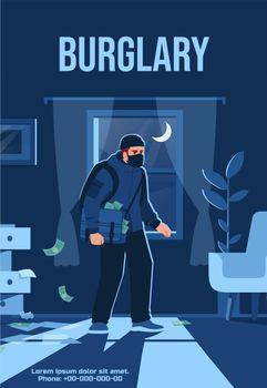 Burglary social media post mockup