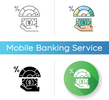 Credit score changing icon