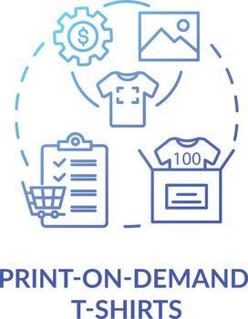 Print on demand T shirts concept icon