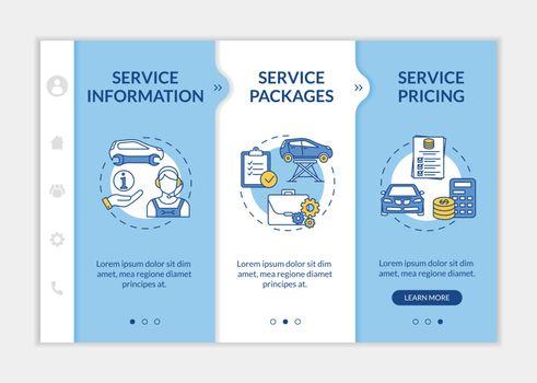 Automotive client service onboarding vector template