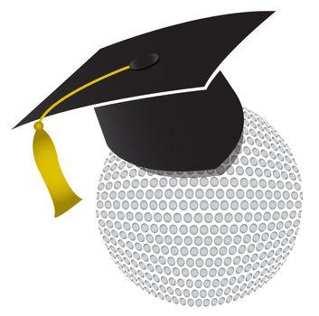 Golf training school illustration design