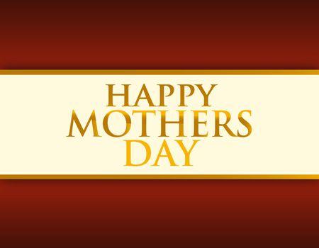 Mothers day card illustration design