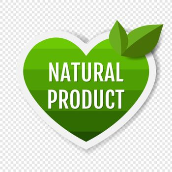 Natural Product Green Labels With Leaves